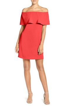 Charles Henry Charles Henry Off the Shoulder Woven A-Line Dress available at #Nordstrom