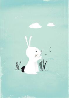 Little Rabbit Art Print by missmalagata | Society6