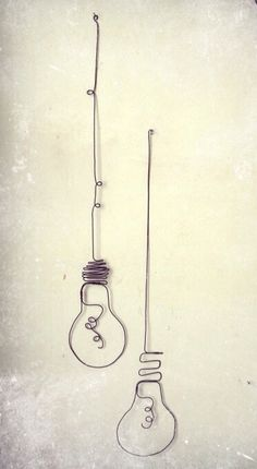 wire light bulb artwork 전구와이어