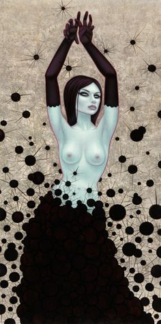 Tara McPherson | ART Paintings Bunny in the Moon Dark Matter Witch