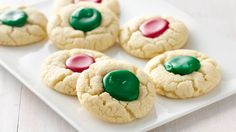 Holiday Thumbprints Kids will have fun filling these easy thumbprint cookies with colored icing. Easy Christmas Cookie Recipes, Holiday Cookies, Christmas Desserts, Christmas Baking, Italian Christmas, Holiday Baking, Holiday Treats, Christmas Cocktails, Christmas Candy