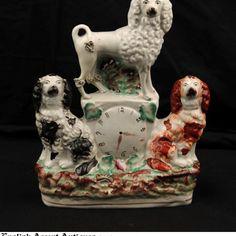 English Staffordshire Dog Grouping - 19th Century