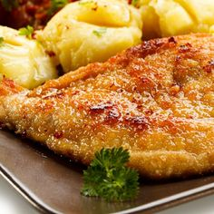 The secret to juicy baked chicken breast Recipe @ http://juliescafebakery.com/scrumptious-crispy-cheesy-baked-chicken/