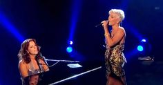 """A truly beautiful duet, Sarah McLachlan and Pink's voices come together to complement one another so beautifully in the famous song, """"In The Arms Of The Angel."""" Written by Sarah, this song stayed on Billboard's top 100 for 29 weeks and is still of favorite touching the hearts of many."""