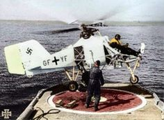 Flettner Fl-282, Nazi Helicopters |  http://worldwartwo.filminspector.com/2014/09/nazi-helicopters.html