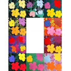 """Andy WARHOL (d'après) Flowers Sunday B Morning edition Ensemble de 10 sérigraphies de format Chacune portant au dos le cachet """"fill in your own signature"""" et """"sunday b morning edition 91 x 91 cm"""