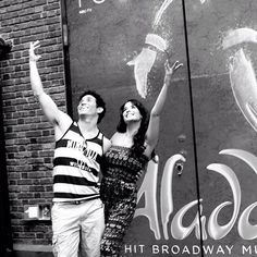 Adam Jacobs and Courtney Reed #aladdinbroadway