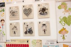Fancy Pants | The heart stamp and the bike stamp