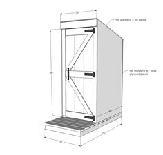 Ana White   Simple Outhouse - DIY Projects