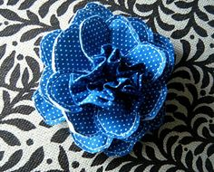 fabric flower, cotton and felt