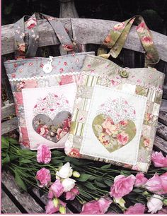 PATTERN Sweetheart Cute applique & stitchery bag by kate54, $13.50
