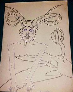 #flashblackfriday #art #Futurisk #flyer  #1979 #ballpoint #pencil #bowie #satyr #kolosine Satyr, Bowie, My Drawings, Painting & Drawing, Pencil, Scrapbook, Paintings, Instagram Posts, Art