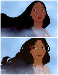 Pocahontas (Pocahontas) lettherebedoodles blog by TT race-bending Disney princesses
