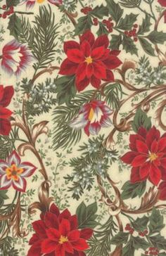 Let it Glow~Poinsettias~Christmas Cotton Fabric by~Moda~Fast Shipping HC251