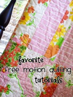 free motion quilting tutorials