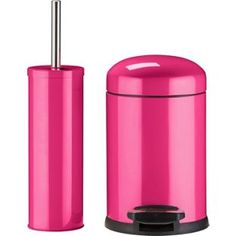 buy colourmatch slow closing bin brush set funky fuchsia at argosco