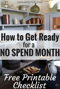 Join me for a No Spend Month! Here's some tips on how to prepare to save some serious money!