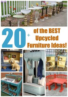 Over 20 of the BEST Upcycled Furniture Ideas - ways to turn Trash into Treasure! These ideas are a great way to repurpose old furniture  very easy to make!