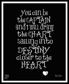 Rush Closer to the Heart lyric Art Quote 8X10 by paperlovespen, $15.00