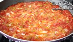 Menemen in Faik Pasha cafe open buffet breakfast Come and enjoy:) Breakfast Buffet, Breakfast Recipes, Open Buffet, Turkish Recipes, Ethnic Recipes, Macaroni And Cheese, Food To Make, Curry, Brunch