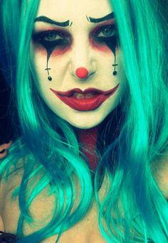Beautiful Clown Halloween Makeup