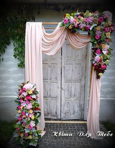Outdoor and indoor wedding floral flower greenery arches for your ceremony, aisle or church. Wedding Draping, Wedding Ceremony Arch, Wedding Entrance, Floral Wedding, Backdrop Wedding, Indoor Wedding, Our Wedding, Arco Floral, Wedding Stage Decorations