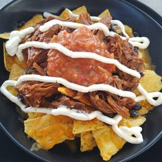 Mmmm #linner ... or was it #dunch? Whichever it was it was tasty #nachos from the guys at #hombrefairfield!! #hombre @hombrefairfield @hombrestreetfood
