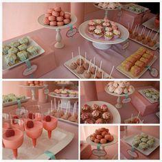 Bridal Shower Dessert Table. drooooool..