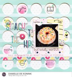 totally awesome layout by @Cliquekits DT gal @daniellekonink @americancrafts @dearlizzy #diecut #cutfile #silhouette