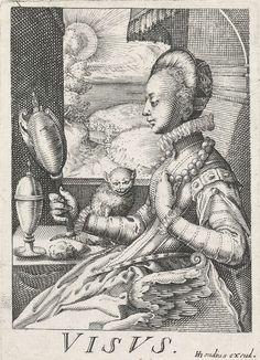 """""""Visus"""" by Hendrick Hondius (I), 1583-1650"""