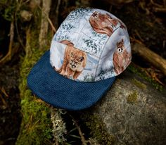 5 panel caps Moupia-The Wild Animals (Fall-Winter Indie Clothing Brands, Baby Animals, Wild Animals, Giraffe, Elephant, 5 Panel Cap, Mountain Lion, Dapper Men, Indie Outfits
