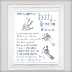 The Perfect First Fathers Day DIY Gift From Baby 8x10 Amp 11x14 Digital Art