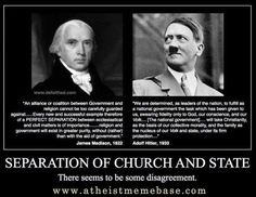 James Madison on the separation of church and state Doubting Thomas, Political Images, Secular Humanism, James Madison, Founding Fathers, Atheism, Christianity, Einstein, Religion