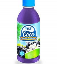 OEM Coconut water 300ml PET bottle Natural Pure Coconut water grape flavour - OEM Beverage Manufacturers NFC