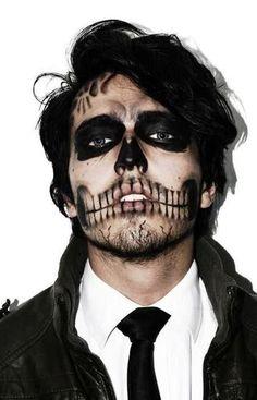 Mens Halloween sceleton makeup                                                                                                                                                                                 More