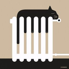 Cats are like water. #cats #illustration #winter