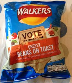 Foodstuff Finds: Emma C's Cheesy Beans On Toast Crisps (@Walkers_Crisps) [By @Cinabar]