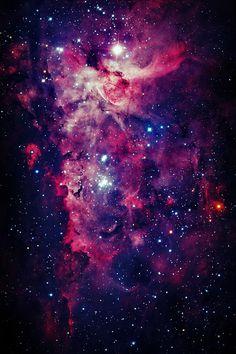 Galaxy sky pink blue purple stars