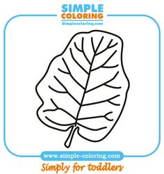 Leaf five - Simple coloring pages for toddlers