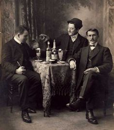 From the David Nathan-Maister's Encyclopedia Men drinking Pernod Fils Absinthe #absinthe #belle epoque