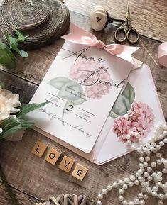 Dusky Pink Weddings, Bespoke Wedding Invitations, Some Times, Bespoke Design, Hydrangeas, Chic Wedding, Shabby Chic, Wedding Inspiration, Blush