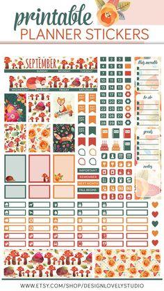 September Mini Planner Stickers September Monthly Stickers Kit Fall Planner Stickers Back to School Planner September Printable To Do Planner, Mini Happy Planner, School Planner, Free Planner, Planner Pages, Monthly Planner, Planner Ideas, College Planner, Teacher Planner