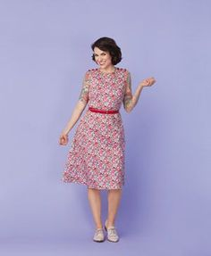 Free Floral Day Dress Pattern from Gertie's Ultimate Dress Book + GIVEAWAY