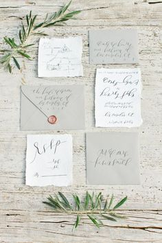 It's hard to beat a handwritten wedding invitation, especially one created by calligrapher Alyssa Thiel, whose naturally elegant lettering oozes organic charm. Let her dream up a completely custom design for you.