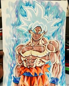 Dessin Son Gokū (Kakarotto) Migatte no Gokui Perfect couleur