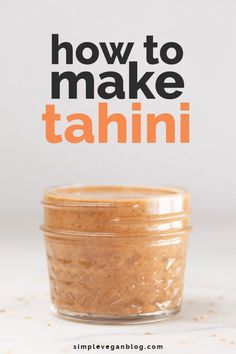 How to make tahini at home using just sesame seeds and oil, which is optional. It's so easy to prepare and healthier and more affordable than store-bought. Vegan Blogs, Vegetarian Recipes, Cooking Recipes, Healthy Recipes, Tofu Recipes, Potato Recipes, Vegetable Recipes, Cooking Tips, Vegetarian Cooking