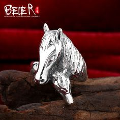 Beier 925 silver sterling jewelry 2015 fashion animal ring double horse head man ring  opening D1038-in Rings from Jewelry & Accessories on Aliexpress.com | Alibaba Group