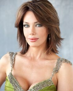 Hunter Tylo, age 50. Love the hair style