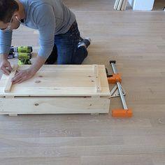 Wood Storage Crates - RYOBI Nation Projects Diy Storage Crate, Storage Shed Organization, Wood Storage, Storage Bins, Homemade Modern, Plastic Storage, Palette, Tool Box, Woodworking Crafts