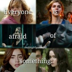 Hermione, Annabeth, Katniss, Tris, Clary, Lena